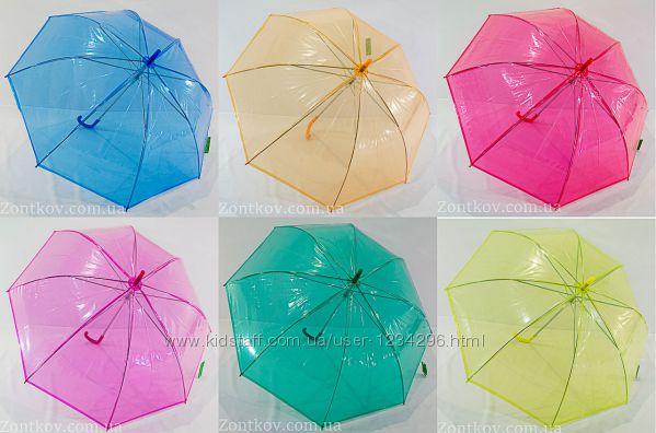 Однотонный прозрачный зонтик трость от фирмы Swifts