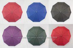 Однотонный механический зонтик на 10 карбоновых спиц от фирмы Calm Rain