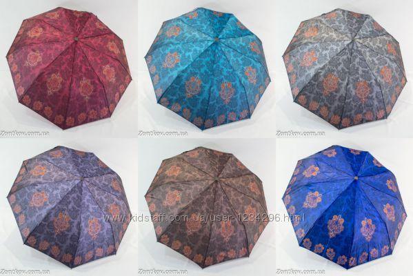 Зонт женский полуавтомат сатин с турецким орнаментом от фирмы Universal