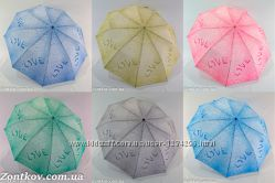 Зонтик женский полуавтомат drops of rain от фирмы Calm Rain