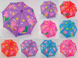 Детский зонтик трость 129 с изображением свинки Пеппа от фирмы Rainproof