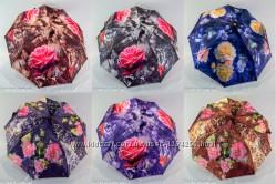 Женский зонтик полуавтомат flowers от фирмы VIVA.