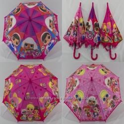 Детский  зонтик LOL на 4-6 лет с пластиковой спицей от фирмы Fiaba