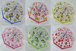 Прозрачный детский зонтик трость на 3-7 лет от фирмы Paolo Rosi 207.