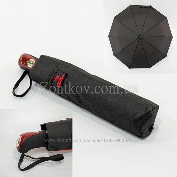 Мужской зонтик Bellissimo 458 полуавтомат черный на 10 спиц