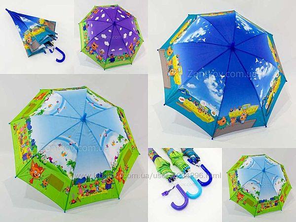 Детский зонтик трость Три кота от фирмы Mario TK-2