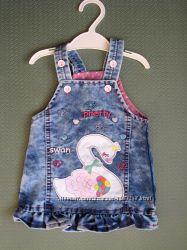 Детский джинсовый сарафан Лебедь для девочки Beebaby Бибеби