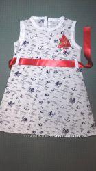 Летнее нарядное детское платье для девочки Турция Beebaby Бибеби