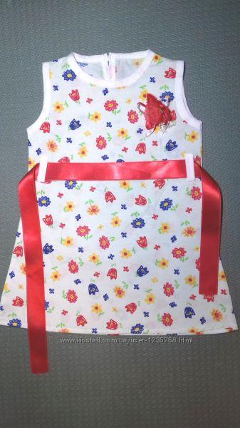 Детское платье Цветы рр. 80-98 Beebaby Бибеби