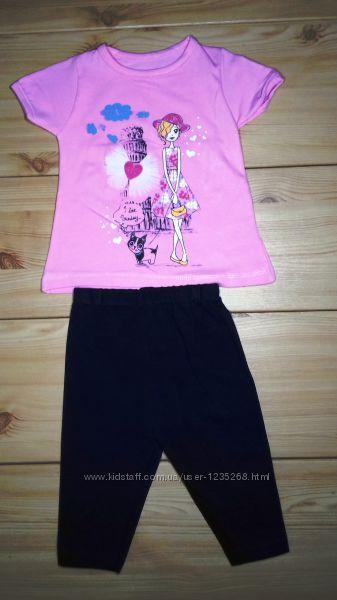 Летний костюм для девочки рр. 80-110 Beebaby Бибеби