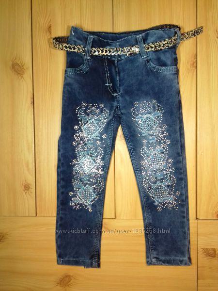 Детские джинсы рванки для девочки рр. 98-134 Beebaby Бибеби