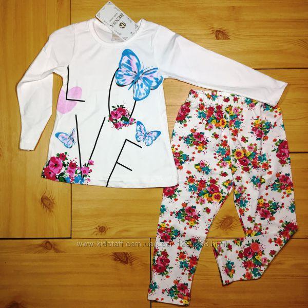 Комплект для девочки с длинным рукавом Love 2 цвет рр. 92-116 Beebaby Бибеб
