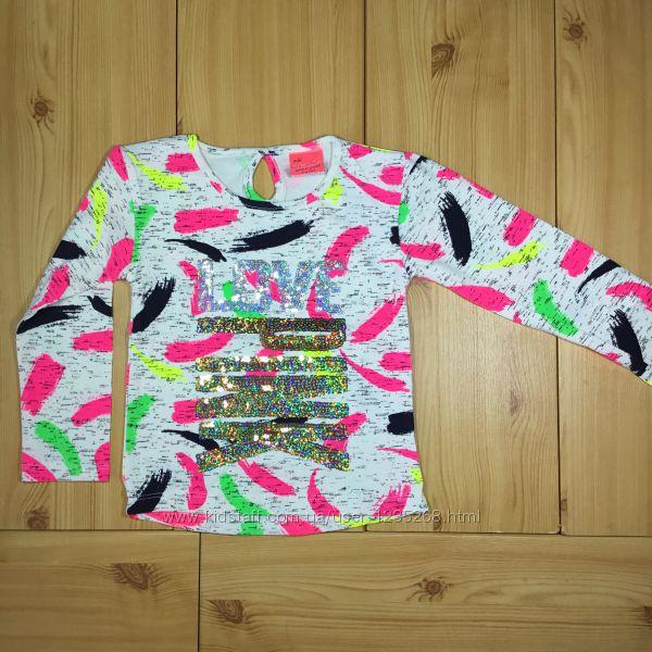 Детский реглан для девочки Love Pink рр. 92-128 Beebaby Бибеби
