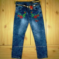 Детские джинсы для девочки рр. 134-140 Beebaby Бибеби