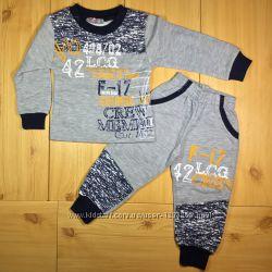 d0c3ba63 Теплый спортивный костюм 3 цвета для мальчика рр. 80-104 Beebaby Бибеби