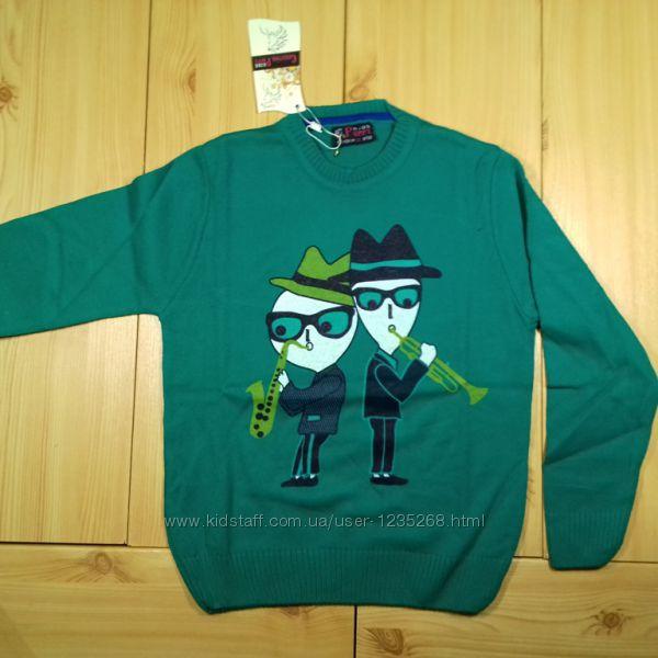 Детский свитер для мальчика Музыканты р. 122-128 Beebaby Бибеби