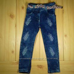 Детские джинсы для девочки рр. 92-140 Beebaby Бибеби