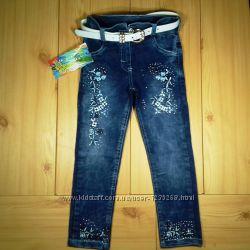 Детские джинсы для девочки рр. 92-116 Beebaby Бибеби