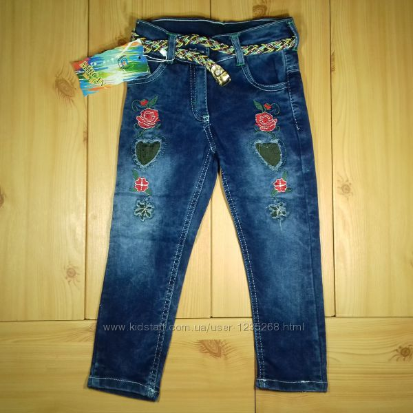 Детские джинсы девочке рр. 98-140 Beebaby Бибеби