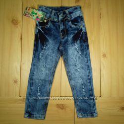 Стильные джинсы для девочек рр. 92-152 Beebaby Бибеби