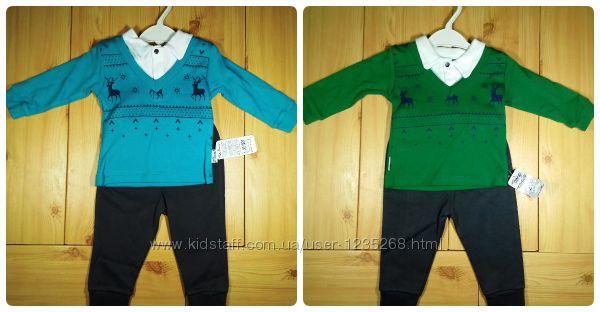 Детский костюм для мальчика Олени рр. 80-98 2 цвета Beebaby Бибеби
