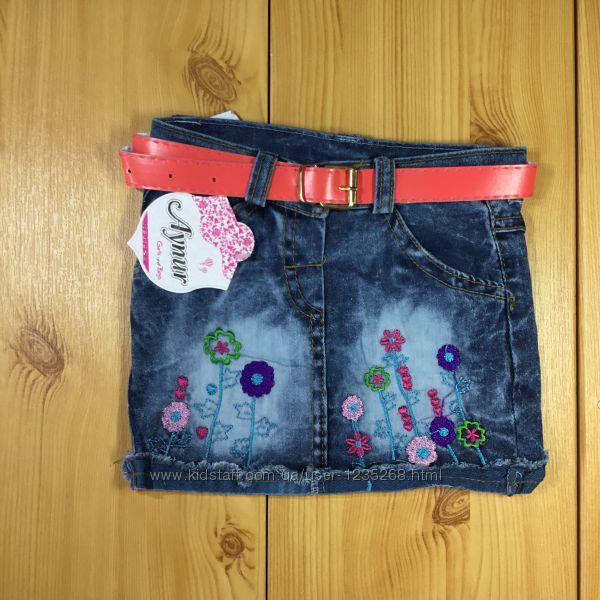 Джинсовая юбка для девочки рр. 80-110 Beebaby Бибеби