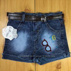 Детские джинсовые шорты Очки рр. 80-110 Beebaby Бибеби