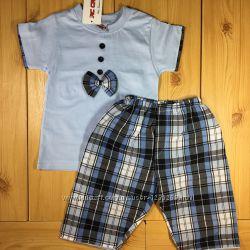 Летний костюм для мальчика Джентельмен рр. 80-104 2 цвета Beebaby Бибеби