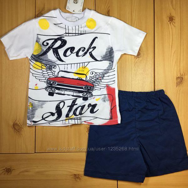 Летний костюм для мальчика рр. 92-116 Rock Star Beebaby Бибеби