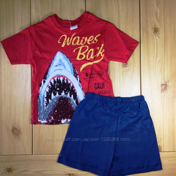 Летний костюм для мальчика рр. 92-116 Акула Beebaby Бибеби