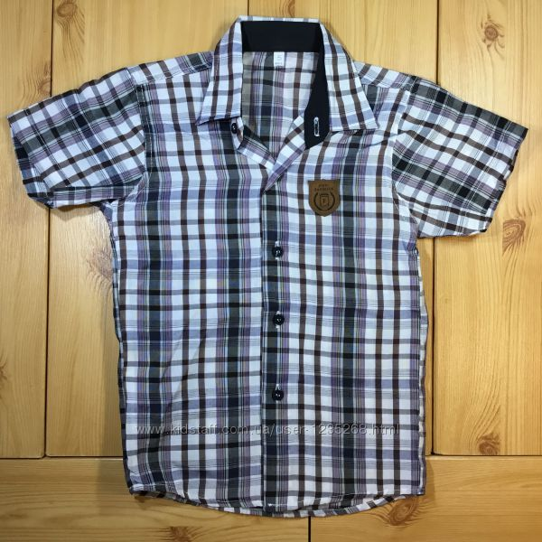 Детская рубашка клетка для мальчика Турция Beebaby Бибеби
