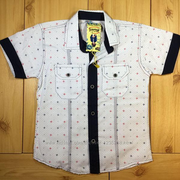 Детская рубашка для мальчика рр. 134-158 Beebaby Бибеби
