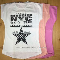 Детская футболка рр. 12-16 лет девочке Beebaby Бибеби
