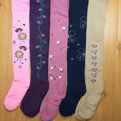 Детские теплые махровые колготы для девочек 1-8 лет Beebaby Бибеби
