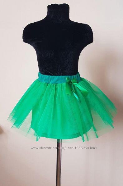 Детская юбка из фатина на подкладке 6 цветов