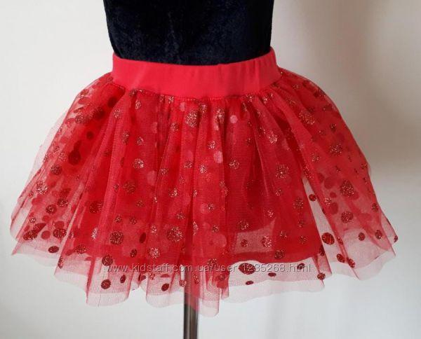 Детская фатиновая юбка на подкладке рр. 92-128