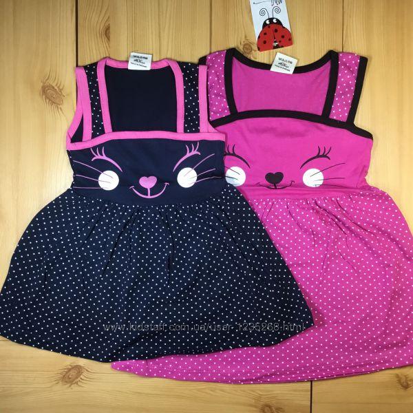 Платье-сарафан для девочки рр. 98-110 Кошечка Beebaby Бибеби