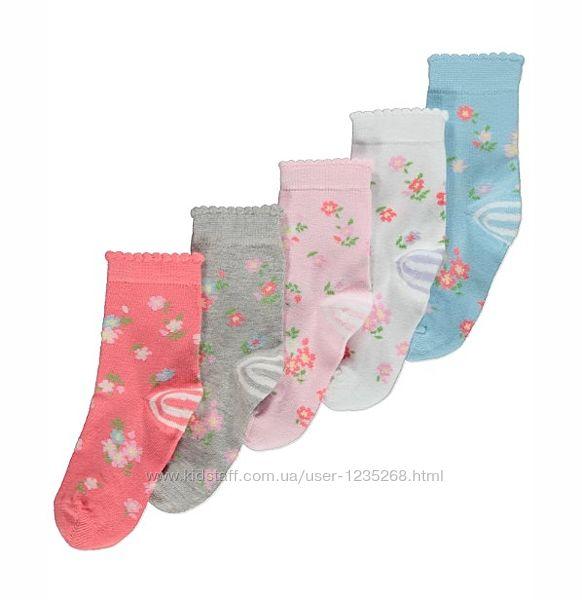 Набор носков для девочки Цветы р.27-36 George Джордж