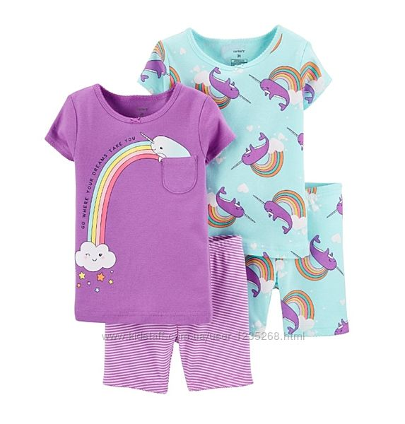 Летняя пижама для девочки рр.92-110 Carter&acutes Картерс
