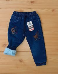 Теплые джинсы на травке махре для мальчика рр.80-104 Beebaby Бибеби
