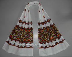 Украинский вышитый рушник лен 155х45 см
