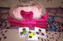 Теплая куртка для девочки Mothercare, 4-5лет. Спиннер в подарок