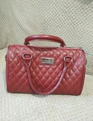 Стёганая сумка бочонок манго mango, цвет бордо