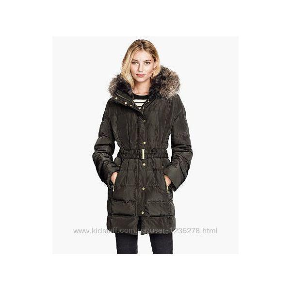 Оригинал. Натуральный пуховик куртка пальто H&M, размер с