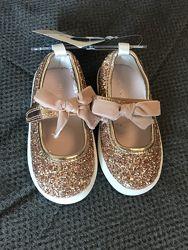 нарядные туфельки макасины Carters