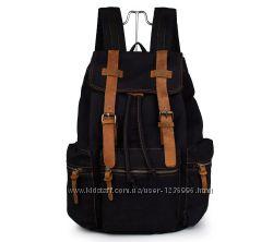 Мужской рюкзак 9003А  с кожаными вставками
