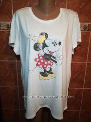 54&9256хлопковая футболка с миккимаусом батал турция