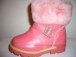 Зимние кожаные ботиночки на цигейке для девочек