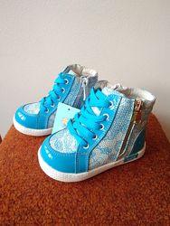 Демисезонные кожаные ботиночки для девочек