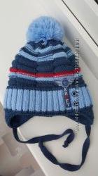 Супер теплая зимняя шапка Kraft р. 46-48 на завязочках